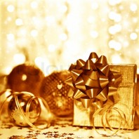 Christmas golden gift decorations